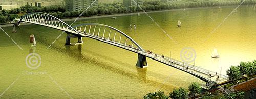 较窄的过江桥3D模型下载