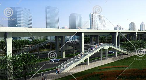 简单的天桥3D模型下载