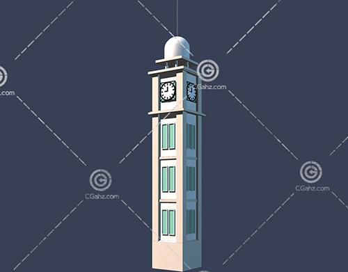 简单的钟楼3D模型下载