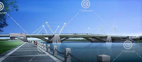 扎实的过江桥3D模型下载