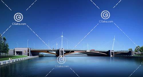 过江大桥3D模型下载