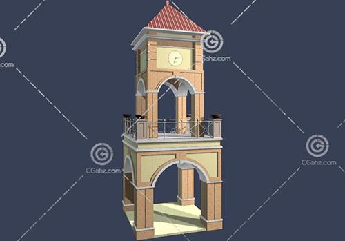 常见的钟楼3D模型下载