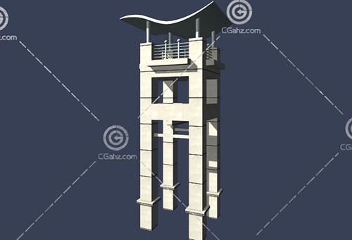 常见的小钟楼3D模型下载