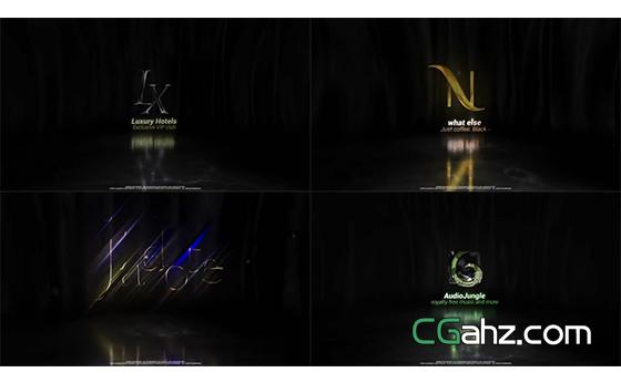 魅力黑金标志入场动画AE模板
