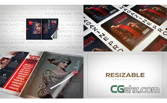 时尚杂志宣传片AE模板