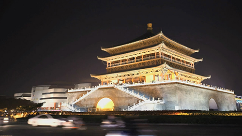 西安城市形象宣传片视频素材