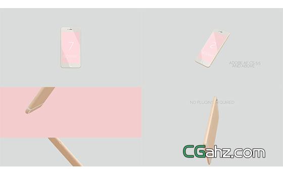 超粉嫩超干凈的手機APP應用宣傳片AE模板