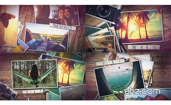 为旅行的记忆照片点赞吧!AE模板