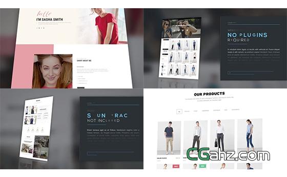 公司网页设计或网站宣传的演示动画AE模板