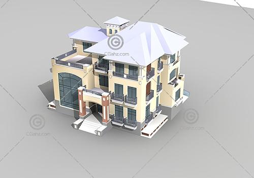 三层别墅3D模型下载