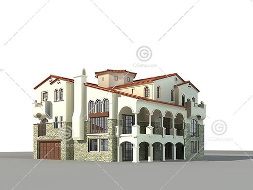 豪华的别墅3D模型下载