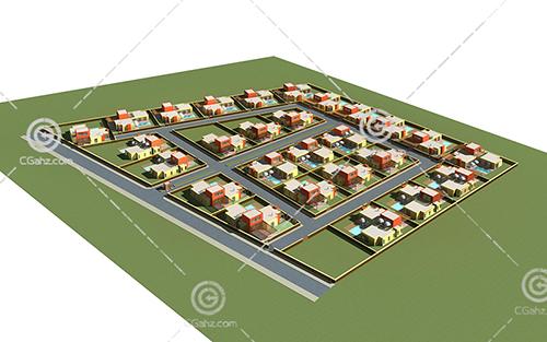 别墅群3D模型下载