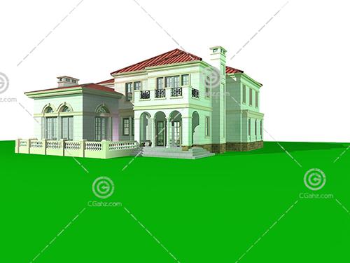 常见的独栋别墅3D模型下载