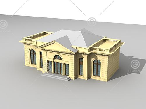 单层别墅3D模型下载
