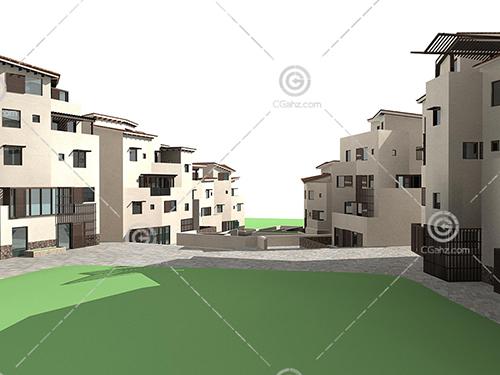 常见的别墅群模型下载