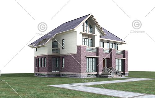 结构简单的独栋别墅模型下载