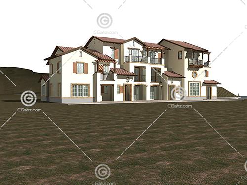 独栋别墅模型下载