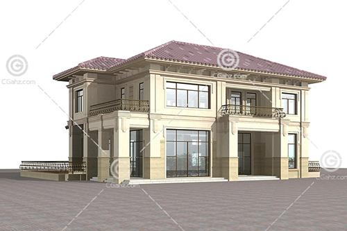 常见的双层别墅3D模型下载