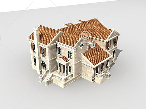 石材结构的独栋别墅模型下载