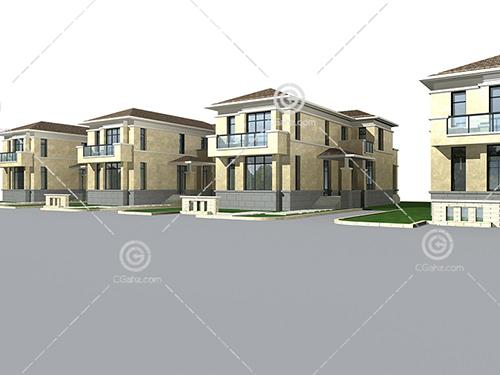 结构简单的别墅模型下载