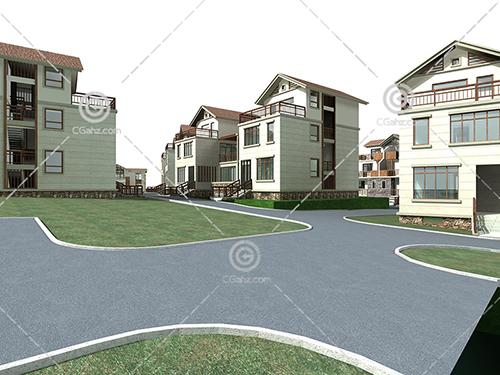 别墅区3D模型