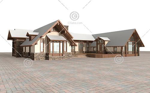 单层别墅模型下载