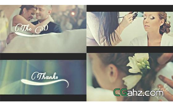 浪漫大光斑中的婚禮微電影紀念AE模板