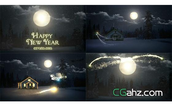 魔法圣诞节之夜开场动画AE模板