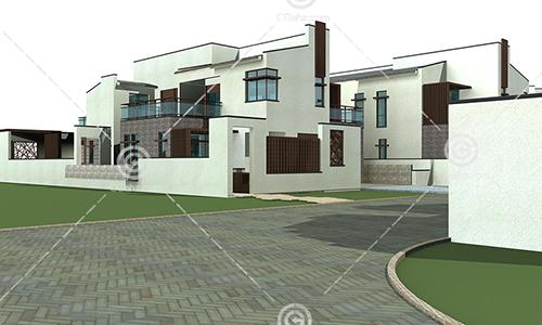 现代别墅模型下载