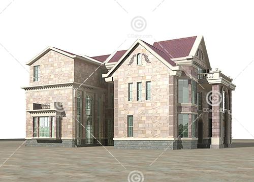 双拼别墅3D模型下载