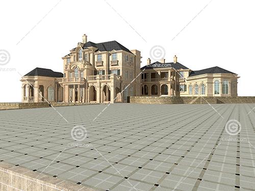 欧式豪华别墅3D模型下载