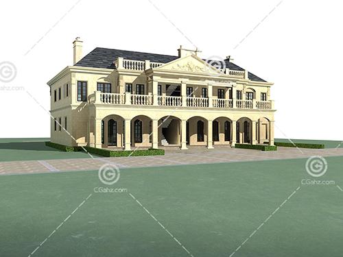 欧式大别墅3D模型下载