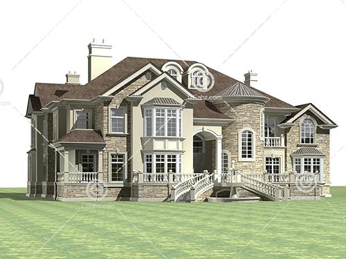 豪华别墅3D模型下载