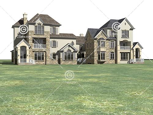 两栋不同结构的别墅3D模型下载