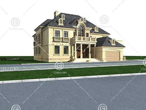 欧式双层别墅模型下载