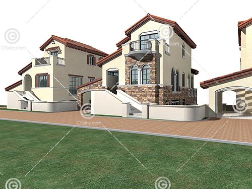 多栋不同结构的别墅模型下载