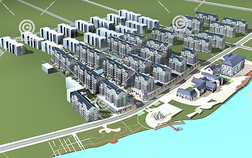 简单的多层住宅区3D模型下载