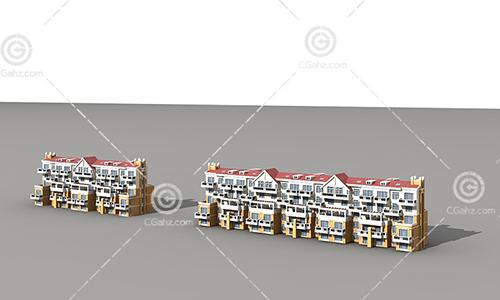 多层排屋住宅模型下载