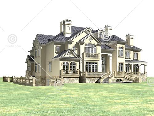 欧式豪华别墅模型下载