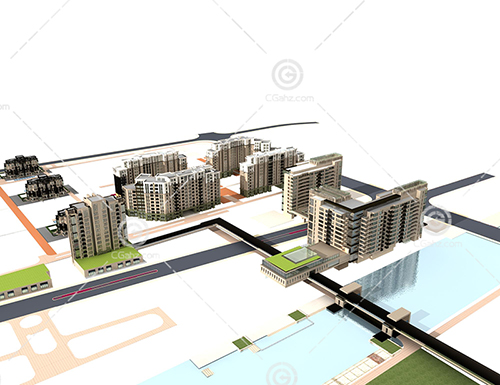 多层住宅3D模型下载