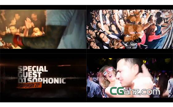 动感俱乐部的火热宣传视频AE模板