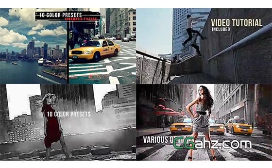 创意绘图样式的图像内容展示特效AE模板