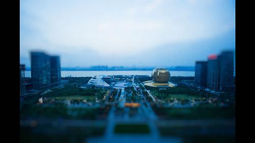杭州钱江新城视频素材