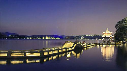 杭州西湖延时摄影视频素材