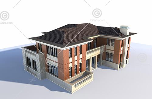 现代独栋别墅模型下载