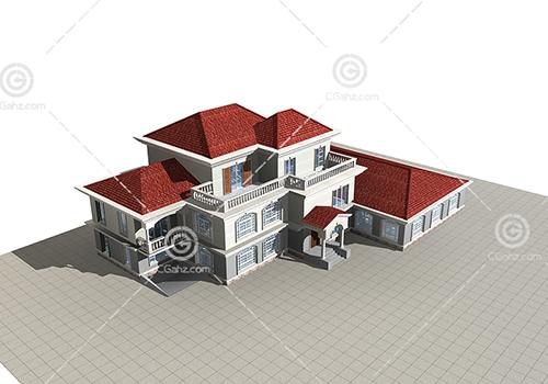 简单的三层别墅模型下载