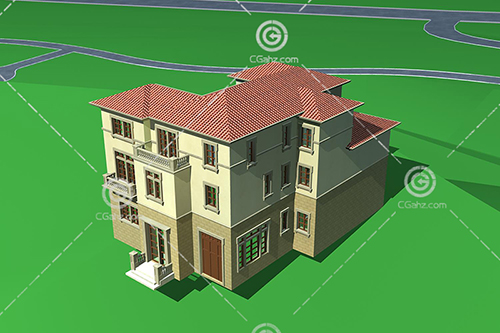 带有小门的别墅3D模型下载