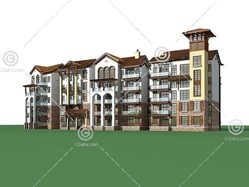 多层排屋住宅3D模型下载