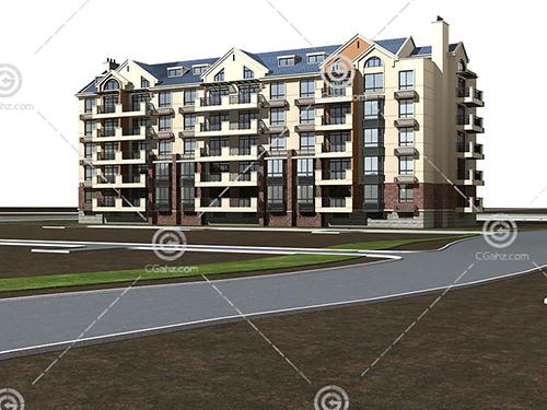 多层住宅建筑模型下载