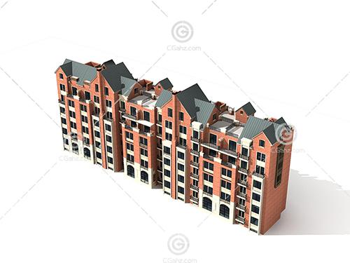常见的住宅建筑3D模型下载